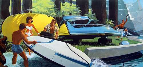 Hovercraft by the lakeside