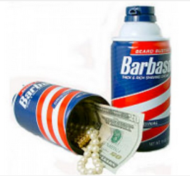 Barbasol Can Diversion Safe